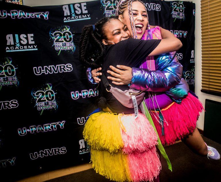 McAuley House Galactix 2019 Sho Madjozi fan hug