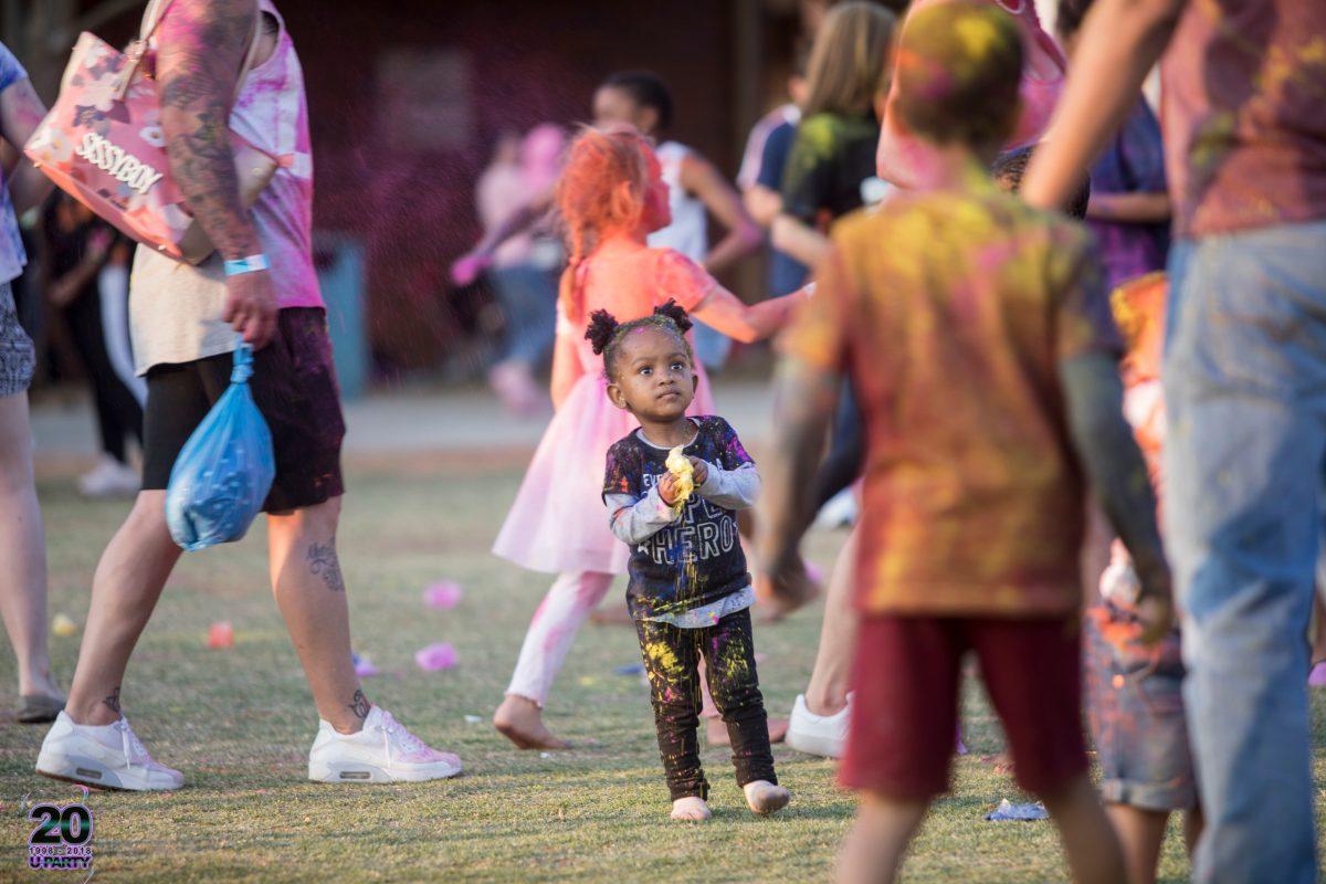 Waterstone Family Festival 2018 colour fest